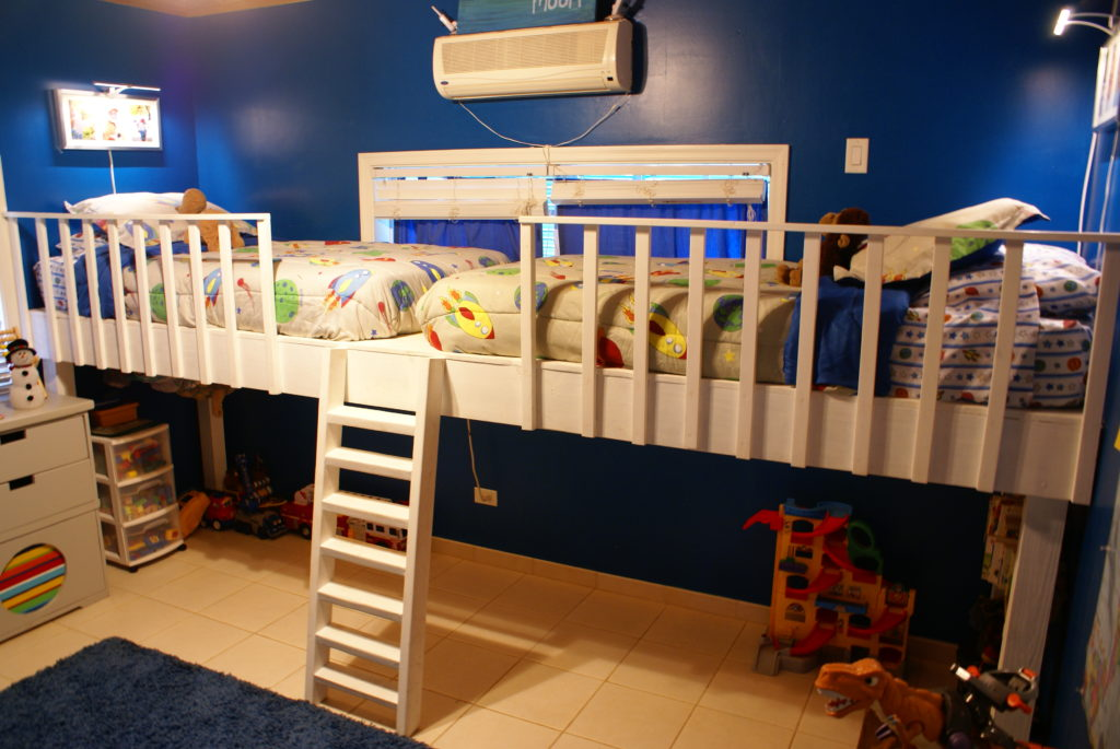Picture of: 27 Diy Loft Beds For Kids To Have Fun Space Under Their Bed Home And Gardening Ideas