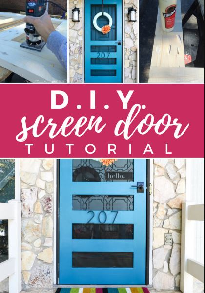 Flat DIY Screen Door