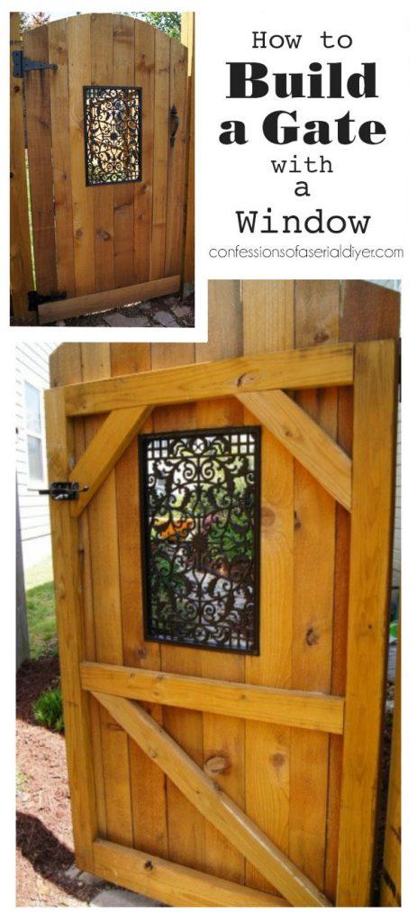 Bir Pencereli DIY Çit Kapısı
